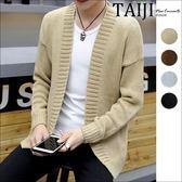 針織罩衫外套‧韓版素面寬鬆針織罩衫毛衣外套‧四色【NTJA3399】-TAIJI-