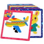 木質磁性拼圖3-4-5-6歲 寶寶幼兒童積木制益智力早教玩具男孩女孩