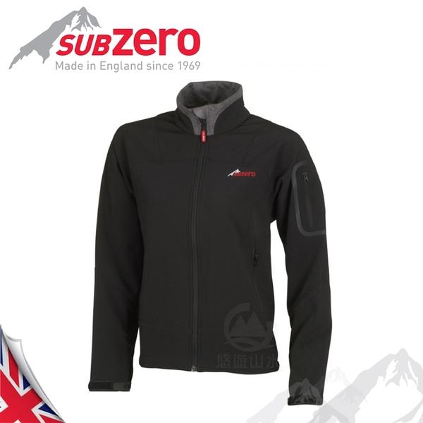 【Sub Zero 英國 女款 SoftShell 透氣防風外套《黑》】SoftShell/防曬夾克/保暖外套/登山外套