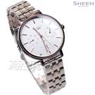 CASIO 卡西歐 SHEEN 簡約設計 大錶面 三眼多功能 SHE-4541CG-7A 女錶 玫瑰金 SHE-4541CG-7AUDF