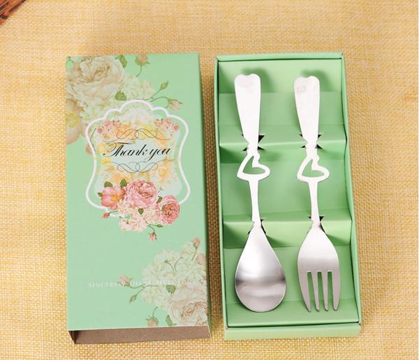 典雅玫瑰湯叉餐具組 送客禮 婚禮小物【皇家結婚用品】
