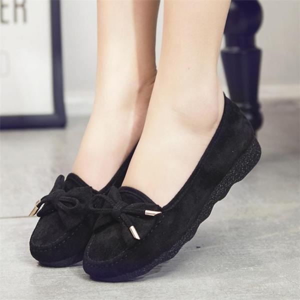 豆豆鞋春秋豆豆鞋女軟底老北京布鞋單鞋時尚透氣防滑舒適平底女鞋媽媽鞋 交換禮物