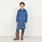 日本WPC 藍雨滴M 空氣感兒童雨衣/防水外套 附收納袋(95-120cm)