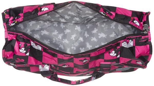 HAPI+TAS 摺疊小旅行袋 - 迪士尼 米奇 格子粉 H0002-MK2