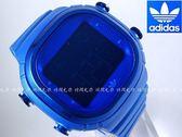 【時間光廊】adidas 愛迪達 大錶面 酒桶型 藍色 電子錶 運動錶 全新原廠公司貨 ADH2138