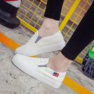 帆布鞋 厚底 韓版小白鞋平底  休閒