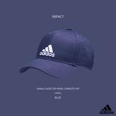 IMPACT Adidas 6 Panel Climalite Cap 藍 白 老帽 棒球帽 三線條 灣沿帽 情侶 男女可戴 CF6913