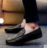 男鞋豆豆鞋男士皮鞋一腳蹬潮懶人休閒鞋 黛尼時尚精品