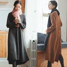 洋裝-羊毛兔絨包芯紗加厚毛衣裙文藝針織/設計家 SQ273