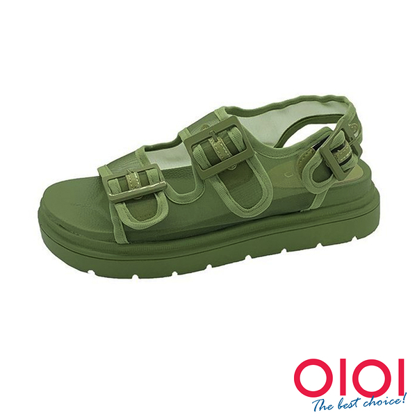 涼鞋 街頭酷感網紗厚底涼鞋(綠)*0101shoes【18-Y88-1gen】【現貨】