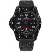 elegantsis / ELJX65AS-9B01LC / 預購8折 陸軍特戰限量款 機械錶 義大利皮革帆布錶帶 黑x灰 47.5mm