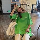 港風簡約短袖t恤女寬鬆韓版慵懶風大碼上衣服夏季 潮流衣舍