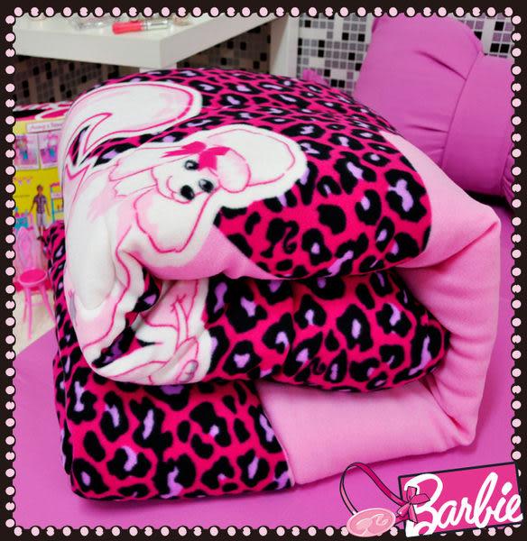 【Barbie】東京豹紋-波拉絲時尚冬被《Tokyo Leopard 《甜心粉芭比》》