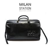【台中米蘭站】YSL 黑色牛皮兩用旅行袋