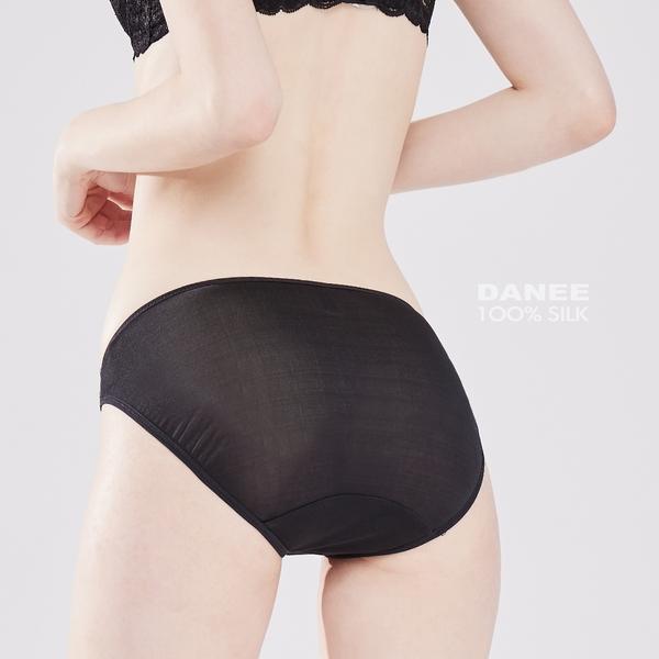【岱妮蠶絲】側鏤空低腰三角女內褲/42針雙面70G (素黑)1A0260E