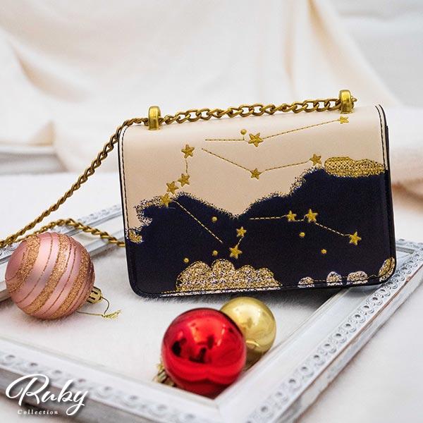 包包 星空刺繡鍊條側背包-Ruby s 露比午茶