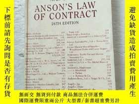 二手書博民逛書店ansons罕見law of contract(安森的合同法)有