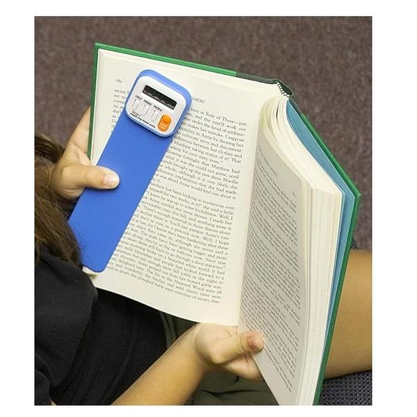 Mark-My-Time 數位書籤 閱讀計時器 Digital Bookmark and Reading Timer 粉/橘/水藍 [9美國直購]
