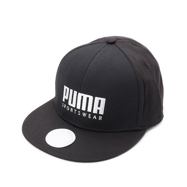 PUMA STRETCH FIT FLAT BRIM 扁平帽 黑 023126-01