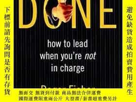 二手書博民逛書店Getting罕見It Done: How To Lead When You re Not In Charge