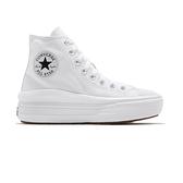 Converse Chuck Taylor All Star Move 女鞋 白色 厚底 增高 帆布鞋 568498C