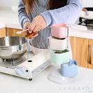 小麥秸稈調味罐立式旋轉調料盒廚房調味盒調...