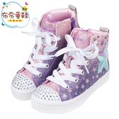 《布布童鞋》Skechers中筒紫色兒童星形電燈帆布鞋(17~23公分) [ N0K16LF ]