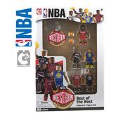 21544【C3 TOYS】超可動積木人偶 NBA系列 明星球員 西區 (5入套組)