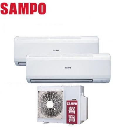 ↙0利率↙SAMPO 聲寶 *約3-4坪* 定頻一對二分離式冷氣 AM-PC22*2/AU-PC2222【南霸天電器百貨】