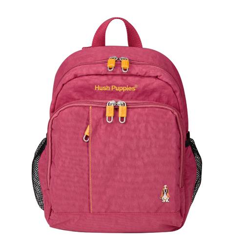 Backbager 背包族【 Hush Puppies】BEELING 直線系列 多口袋小後背包(小款)/後背包 酒紅 HP69-3273011