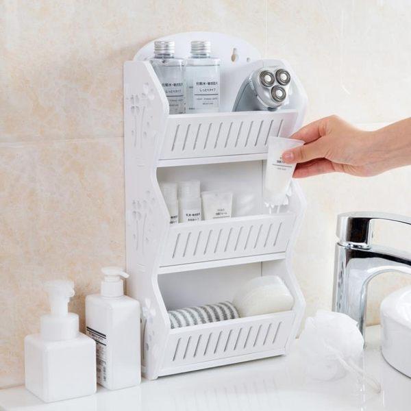免打孔壁掛置物架衛生間多層收納架浴室台面落地架子洗漱架HD【快速出貨】
