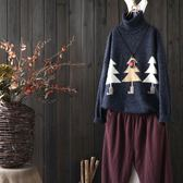 寬鬆聖誕花線針織衫內搭毛衣/設計家 Y1782