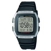 CASIO 輕運動時代電子錶-銀框 (W-96H-1A)