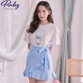 套裝 可愛動物熱氣球套裝 上衣+褲裙-Ruby s 露比午茶