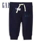 Gap男嬰棉質鬆緊腰裝飾繩休閒褲567694-海軍藍色
