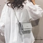質感漆皮小包包時尚斜背包包單肩鏈條包百搭【時尚大衣櫥】