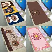 滑鼠墊~~卡通可愛滑鼠墊超大電腦桌墊加厚辦公女生凱蒂貓韓國布朗熊-薇格嚴選