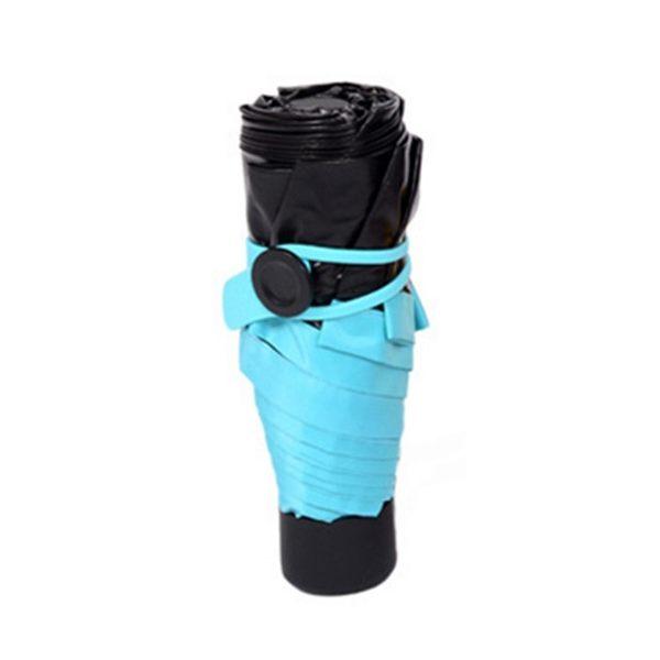 超mini口袋傘 迷你折傘  耐強風 防曬 小黑傘 防紫外線 遮陽傘 晴雨傘 五折傘