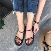 平底涼鞋 復古女簡約羅馬涼鞋 城市玩家