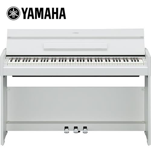 【敦煌樂器】YAMAHA YDP-S52 88鍵掀蓋式數位電鋼琴 時尚白色款