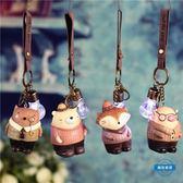 鑰匙圈正韓可愛汽車小飾品鑰匙扣女創意情侶卡通鑰匙鍊包包鈴鐺掛件禮物 (一件免運)