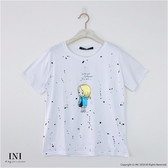 【INI】週慶限定、可愛穿搭印花舒適上衣.白色