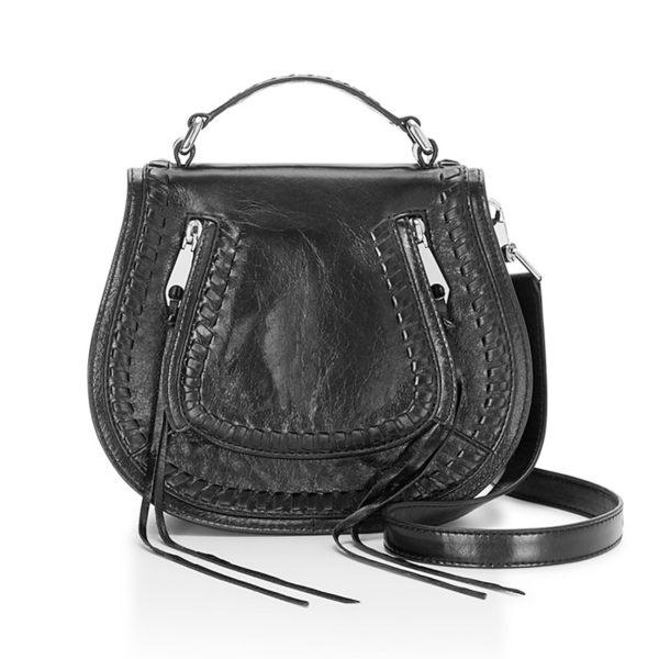 【Rebecca Minkoff 】Small Vanity Saddle 真皮 手提包 斜背包 肩背包 (黑色)