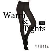 V.VIENNA 微微安娜 80D 顯瘦耐勾保暖褲襪_黑色 ◆86小舖 ◆