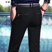 褲子男士休閒褲直筒商務長褲