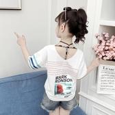 中大女童夏季親子裝2020夏裝純棉T恤兒童韓版短袖洋氣上衣汗衫潮 快速出貨