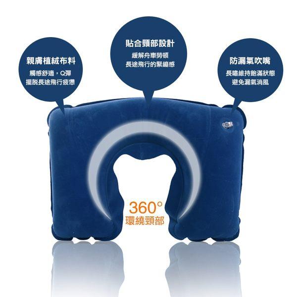 [輸入yahoo5再折!]旅遊三寶 充氣枕+遮光眼罩+耳塞+收納袋/組 旅行必備 U型枕 (不挑色)