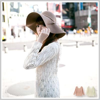 針織 輕甜女孩背後深V甜美蕾絲洞洞針織毛衣【U1126】☆雙兒網☆This moment