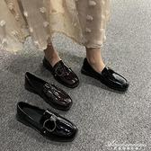 韓版英倫風小皮鞋女復古搭扣平底學院圓頭軟妹黑色單鞋樂福鞋女鞋 黛尼時尚精品