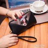 小包包女2018春夏新款時尚印花女長款錢包手拿手機包女包零錢包女-Ifashion